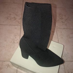 Nasty Gal black detailed heeled boots